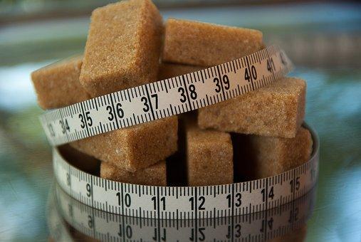 hnědý cukr kostky
