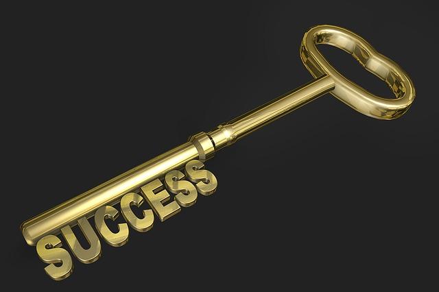 klíč, úspěch