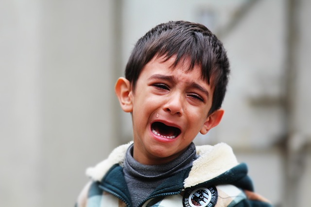 nešťastný chlapec