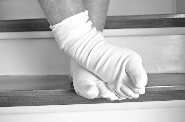 bílé ponožky