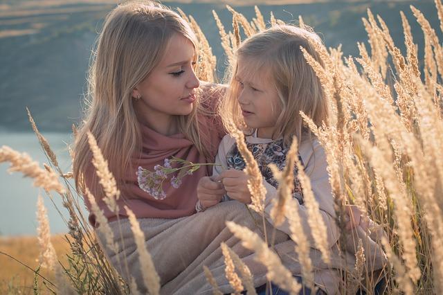focení matky s dcerou